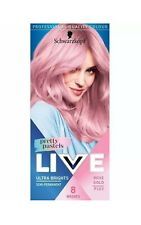 Schwarzkopf LIVE Pastels ROSE GOLD Semi Permanent Hair Dye for Blondes BABY PINK