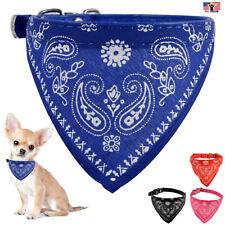 Pet Dog Cat Neck Scarf Bandana Leash Leather Collar Neckerchief Adjustable Belt