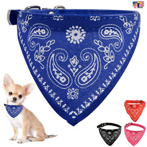Pet Dog Cat Neck Scarf Bandana Leash Leather Collar Neckerchief Adjustable Belt