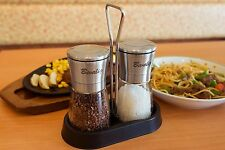 Salt and Pepper Grinder Set with Matching Stand | Adjustable Coarseness Spice...