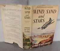 Vintage copy: Wind, Sand and Stars Illustrated HC/DJ 1940 by Saint Exupery NICE