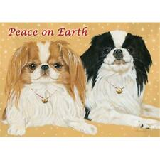 Pipsqueak Productions C710 Japanese Chin Christmas Boxed Cards - Pack of 10