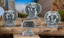 Gargoyle Set of 3  See No Evil Asst + 1 Sign  GI 700290  Miniature Fairy Garden