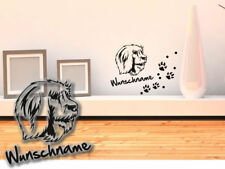 Wall Tattoo Catalan Sheepdog Gos D? atura Catala h119 request text Dog Paw