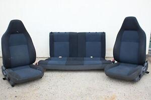 GENUINE MITSUBISHI CE MIRAGE FRONT & REAR SEATS - BLACK & BLUE - HATCHBACK 96-04