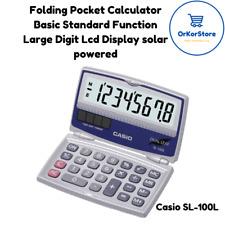 New Folding Pocket Calculator Basic Standard Function Large Digit Lcd Display