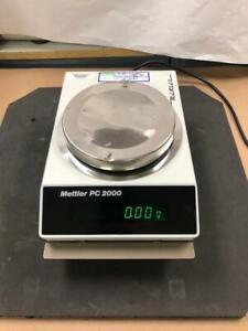 Mettler PC 2000 Digital Lab Balance TESTED WORKS