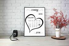 Pregnancy Announcement Calendar Due Date Personalised Monogram Unisex A4 Size