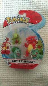 Pokemon Battle Figure Set 3 Pack - Charmeleon , Bulbasaur , Larvitar - NEW