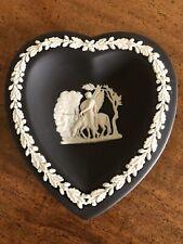 Black Wedgwood Pegasus Jasperware Heart Shape Trinket Dish