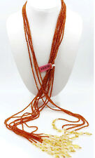 Vintage Fine Jewelry Genuine Honey Baltic Amber Lariat Necklace  46""
