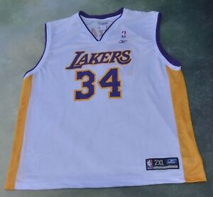 Reebok NBA Los Angeles Lakers Shaquille O'Neal #34 Jersey Size 2XL.