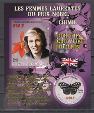 Mali, 2009 issue. D. Hodgkin, Nobel Prize Winner. Orchid & Butterfly. IMPERF
