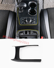 Carbon Fiber Inner Gear Shift Frame Cover Trim For Jeep Grand Cherokee 2014-2017