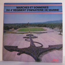 """33T MARCHES SONNERIES 4è REGIMENT D'INFANTERIE DE MARINE Disque LP 12"""" REVEIL"""