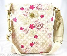 NWT Coach Flower Floral PVC Swingpack Crossbody Shoulder Pink 45047 RARE Waverly