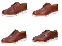OSSIANI scarpe uomo classiche cerimonia casual colore marrone in pelle