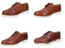 OSSIANI scarpe uomo classiche cerimonia casual colore marrone in pelle 6e45d7072e6