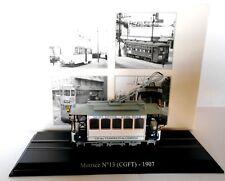 Editions Atlas  Diecast Scale 1/87 Tram Motrice N°13 (CGFT) 1907 - [b.2519005]