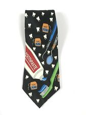 1997 Aesop Silkmill Dental Care Necktie Toothpaste Dental Floss Dentist Teeth