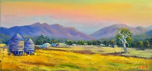 Original framed oil painting Australian Landscape Grampians Mountains VICTORIA