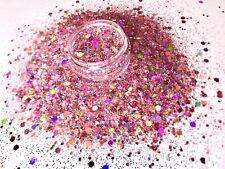 Glitzer Mix, Holo Altrosé, Festival Glitter, Nail Art, 10 Gramm