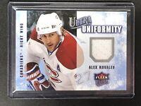 Alex Kovalev 2008-09 Fleer Ultra , Ultra Uniformity #UA-AK Game Used Memorabilia