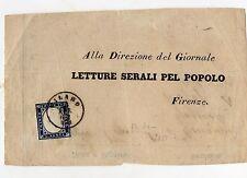 STORIA POSTALE 1862 REGNO 20 CENT. SU PARTE DI BUSTA 23/4 D06966