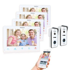 "TMEZON 10"" WiFi Video Door Phone Intercom IP Monitor 720P Doorbell Camera System"