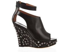 GIVENCHY Moroccan Studded Platform Wedge Heels Shoes Size 38.5 $865
