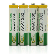 ☆ LOT 4 PILES NI-MH  rechargeables BATTERIES ACCU LR03  AAA 1350 mAh  Neuves  ☆