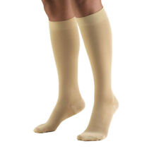 TruForm XL Knee High Compression Stockings CT Beige 20-30 mmHg 8865 - Closed Toe