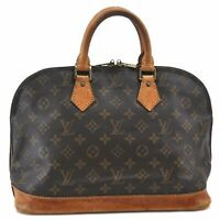Authentic Louis Vuitton Monogram Alma Hand Bag M51130 LV B6537