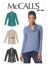 McCall's Sewing Pattern M7199 Misses 14-22 Draped-Collar Or Open Front Jackets