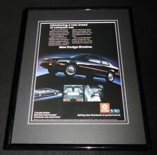 1986 Dodge Shadow 11x14 Framed ORIGINAL Advertisement