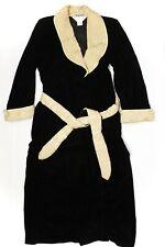 VTG Neiman Marcus Diamond Tea Womens Velvet Robe Petite Black Gold Rayon Canada