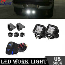 Clamp Mounting Kit Bracket+Dual 16W LED  Fog Light For Off-Road SUV Ford Jeep