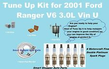 Tune Up Kit for 2001 Ford Ranger V6 3.0L Spark Plug Wire Set, Engine Filter,Spar