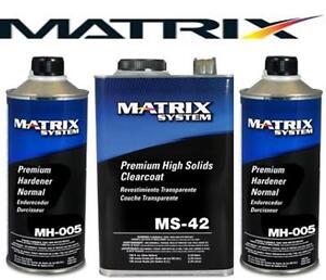 MATRIX MS-42 HIGH SOLIDS URETHANE CLEARCOAT W/MH005 (SIMILAR DCU 2042)(MTXMS-42)