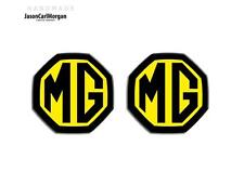 MG ZR ZS,MGF MK1 LE500 Compatible Front & Rear Insert Badges 59mm Black/Yellow