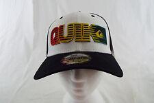 Quiksilver 39THIRTY New Era Hat High Crown White, Black, Rasta  NWT One Size