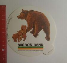 Aufkleber/Sticker: Migros Bank Basel Bern Genf (021116159)