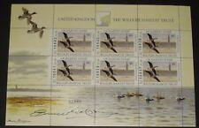 United Kingdom 1996 Wildlife Habitat Trust Artist Signed Souvenir Sheet Of 6