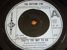 """THE BOTTOM LINE - THAT'S THE WAY TO GO    7"""" VINYL"""