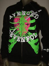 New Juniors Small Avenged Sevenfold Metal Band A7X Rib Cage Heart Sword Hoodie S