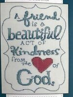 "Bucilla Dayspring Counted Cross Stitch Kit,""Heart of God"",  Size: 8 in * 10 In"