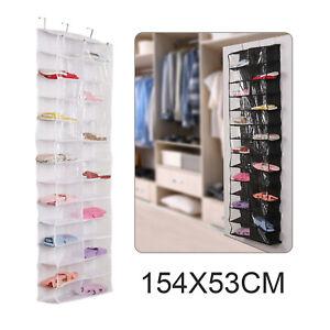26-Pocket Over Door Hanging Shoe Rack Shelf Organizer Holder Storage Wall Closet