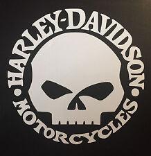 Harley Davidson Motorcycle Motorra Aufkleber Sticker Folie Logo Totenkopf Skull