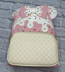 Pink a La Mode Exclusive Strawberry Sundae Loungefly Minnie Mouse Backpack NWT