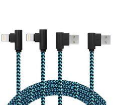 2x2m PREMIUM rechtwinklig Schnell Ladekabel für Original iPhone 6 7 8 X NEU blau